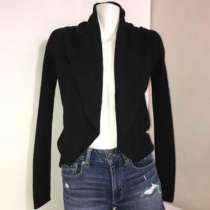 Express Black Ribbed Open Wrap Sweater Cardigan